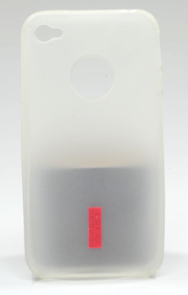 Capa protetora transparente de silicone para iPhone 4G
