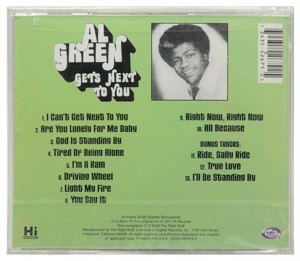 CD Al Green - Gets Next To You - Lacrado - Importado