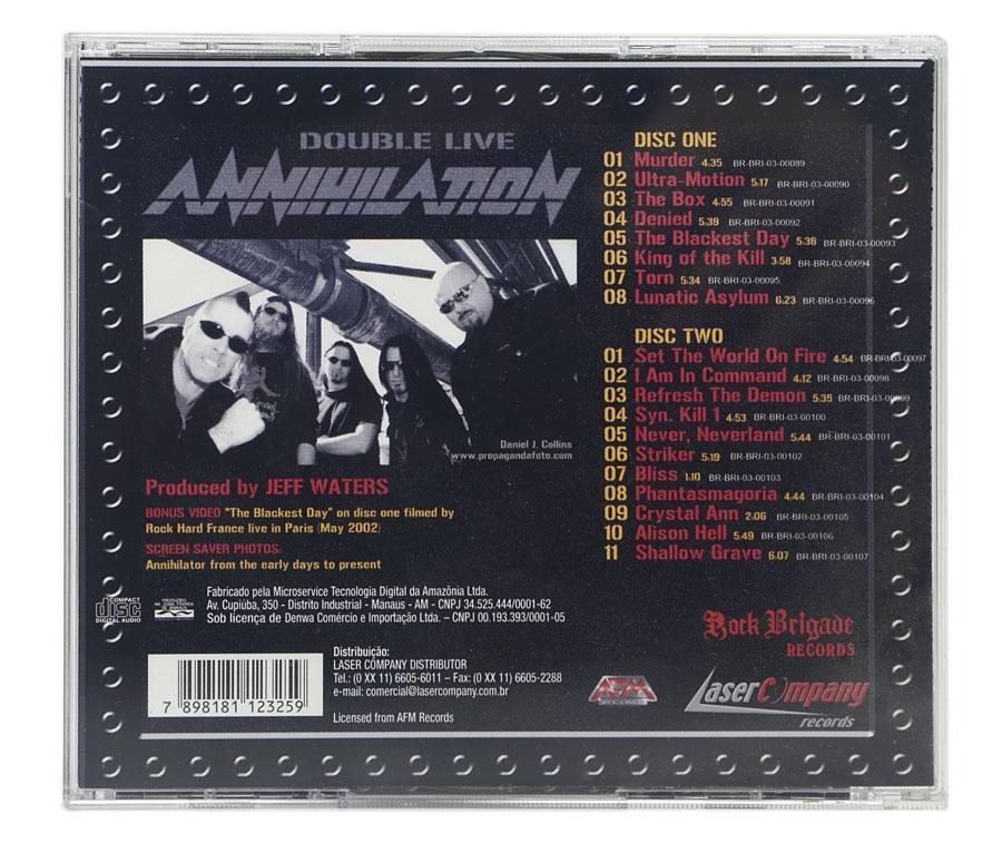 CD Annihilator - Double Live Annihilation (CD Duplo) - Lacrado