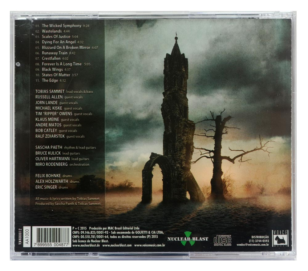CD Avantasia - The Wicked Symphony - Lacrado