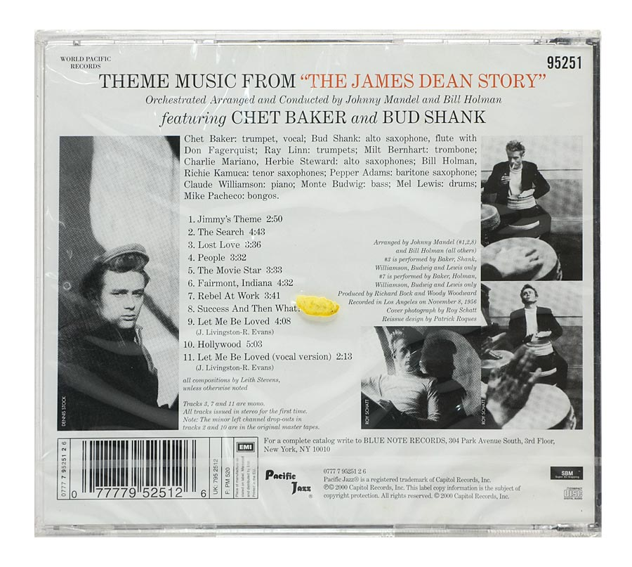 CD Chet Baker & Bud Shank - The James Dean Story: Original Soundtrack - Importado - Lacrado