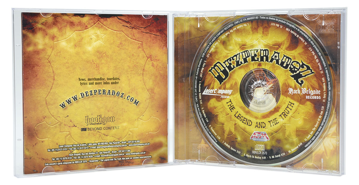 CD Dezperadoz - The Legend And The Truth - Lacrado