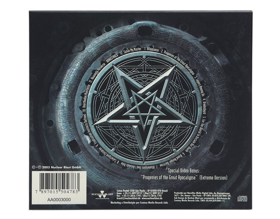 CD Dimmu Borgir - Death Cult Armageddon - Digipack - Lacrado