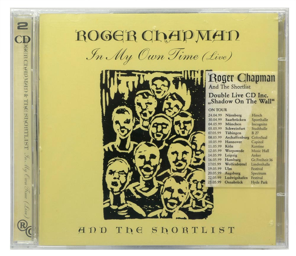 CD Duplo Roger Chapman And The Shortlist - In My Own Time - Importado Alemanha - Lacrado