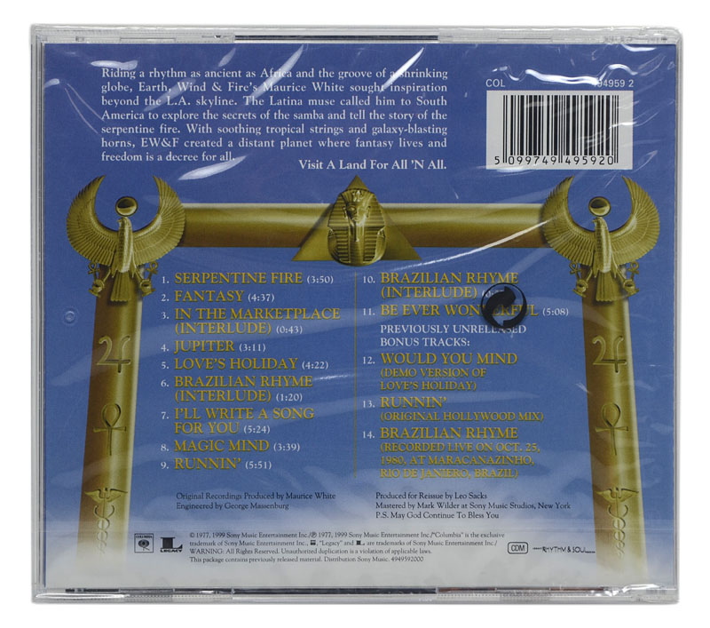 CD Earth Wind & Fire - All N All - Importado - Lacrado