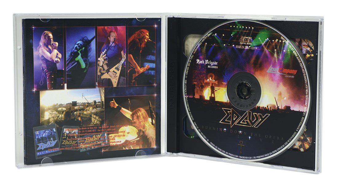 CD EDGUY - Burning Down The Opera Live (CD Duplo) - Lacrado