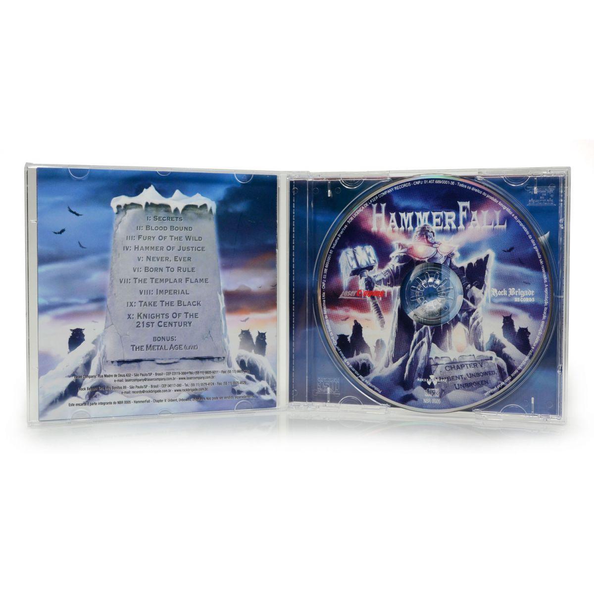 CD Hammerfall - Chapter V: Unbent, Unbowed, Unbroken - Lacrado