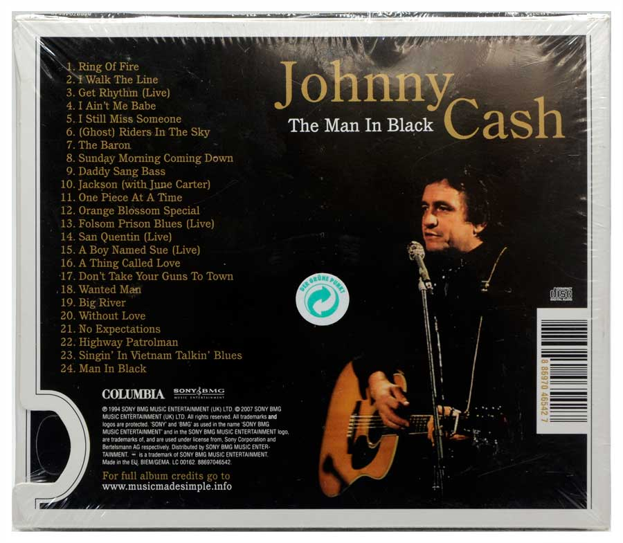 CD Johnny Cash - The Man In Black The Definitive Collection - Importado - Lacrado