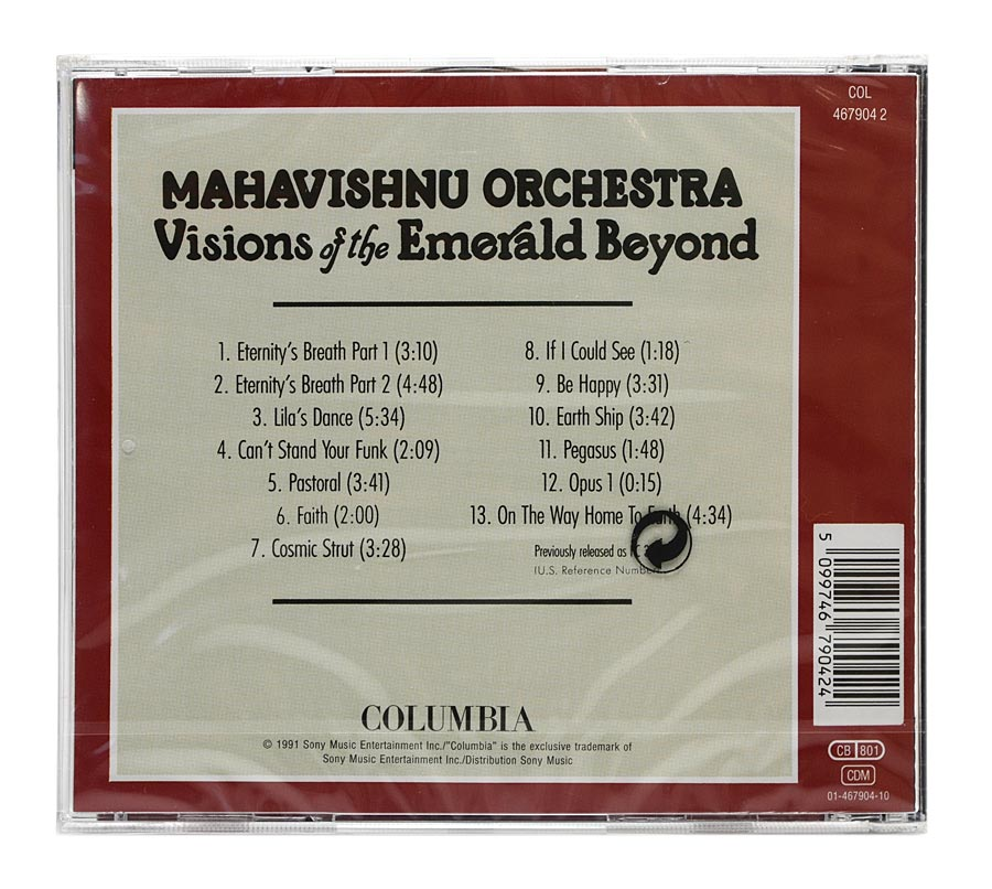 CD Mahavishnu Orchestra - Visions Of The Emerald Beyond - Importado - Lacrado