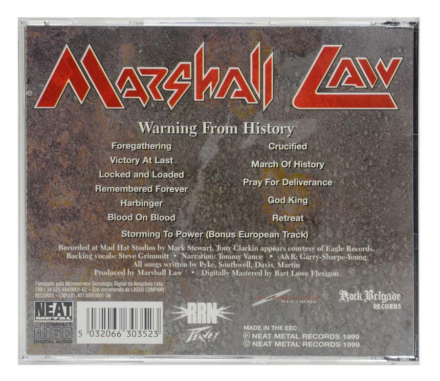 CD Marshall Law - Warning From History - Lacrado