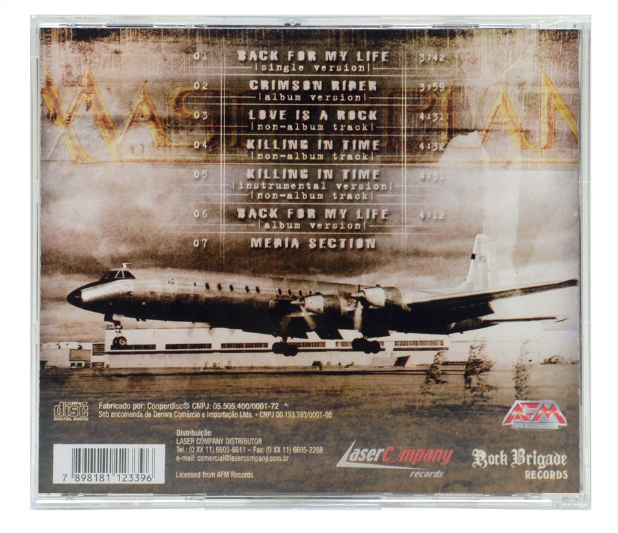 CD Masterplan - Back For My Life - Lacrado