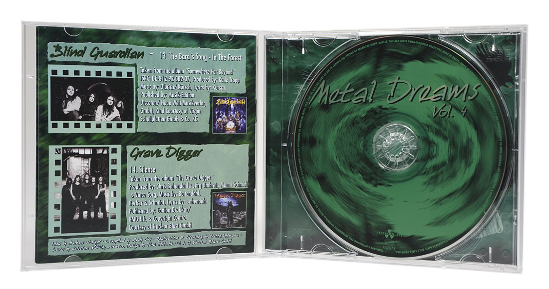 CD Metal Dreams Vol.4 - Coletânea Baladas Metal - Lacrado