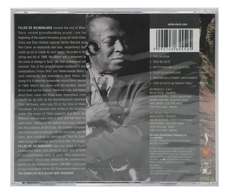 CD Miles Davis - Filles de Kilimanjaro - Importado - Lacrado