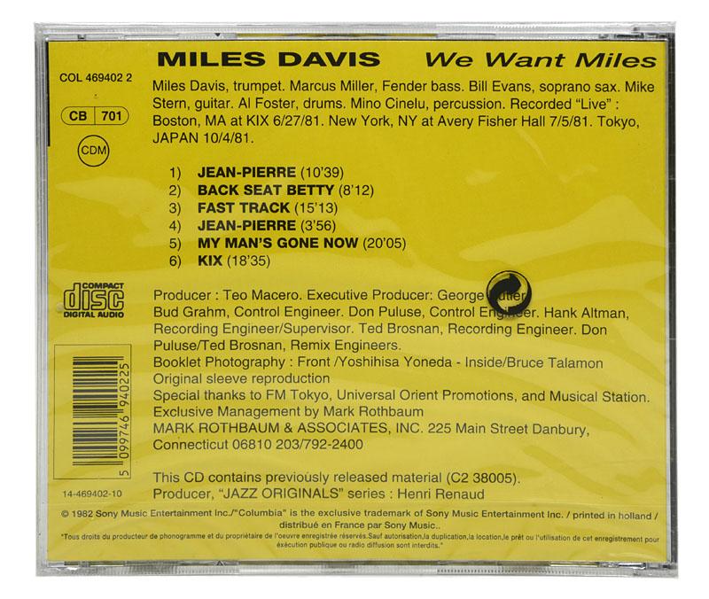 CD Miles Davis - We Want Miles - Importado - Lacrado