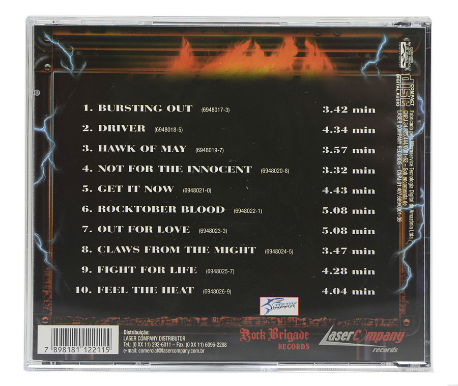 CD MP - Bursting Out - Live & Loud - Lacrado