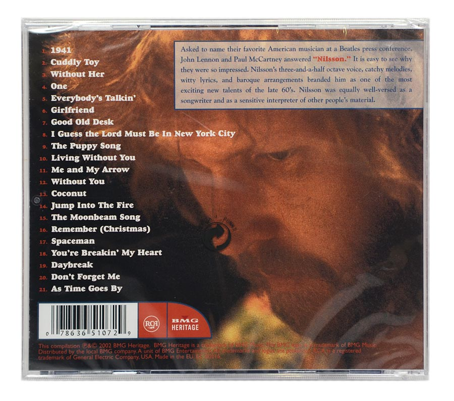 CD Nilsson - Greatest Hits - Importado EU - Lacrado