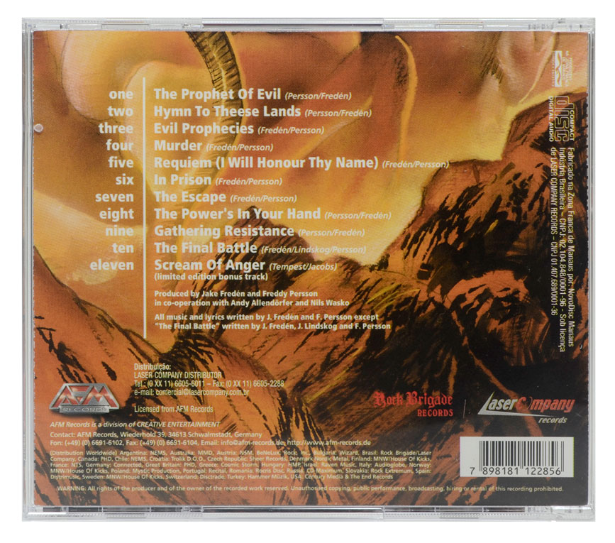 CD Nostradameus - The Prophet Of Evil - Lacrado