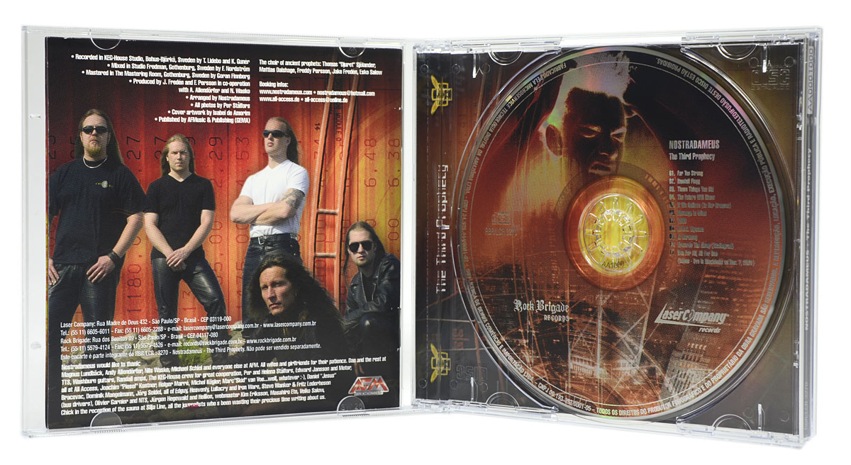CD Nostradameus - The Third Prophecy - Lacrado
