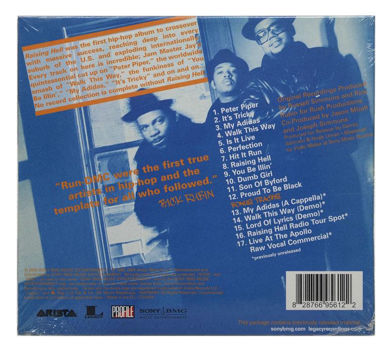 CD Run Dmc - Raising Hell - Limited Edition Deluxe (5 Bonus) - Digipack Importado EU - Lacrado