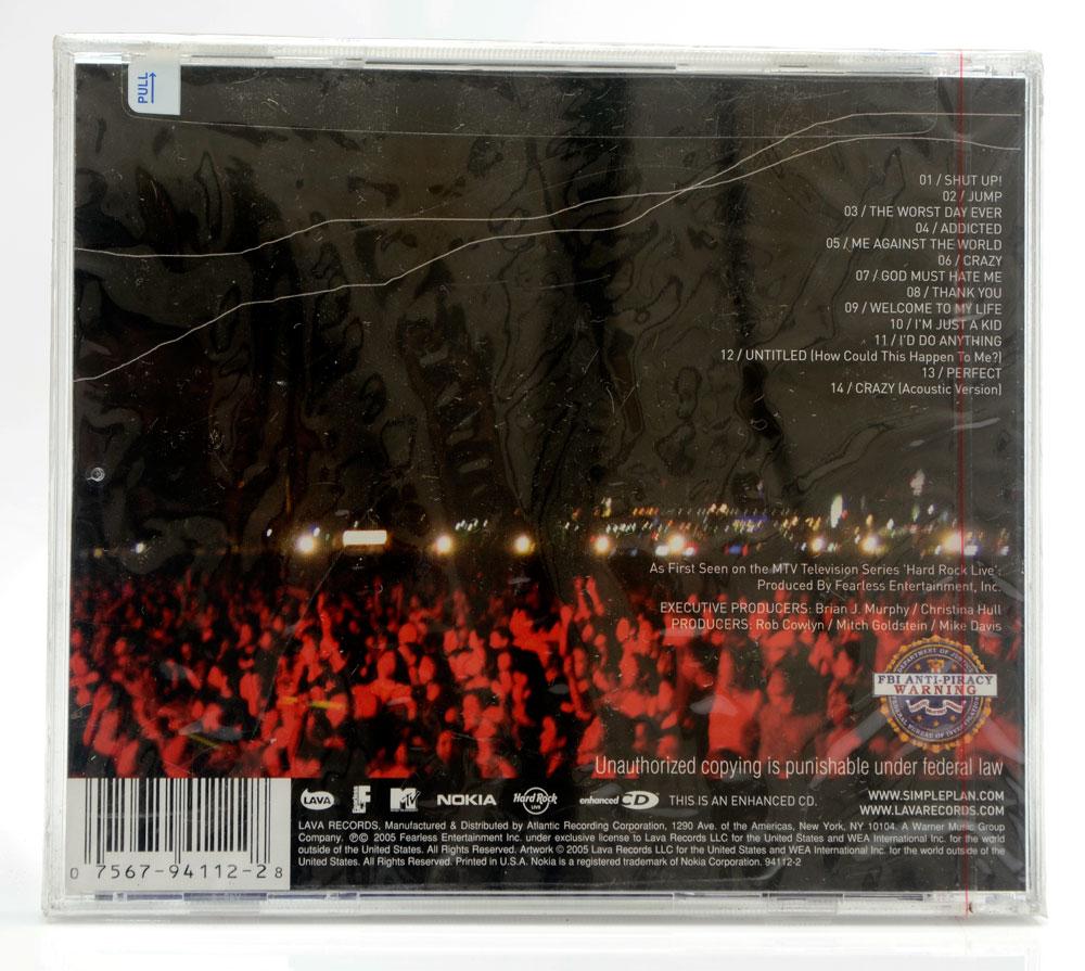 CD Simple Plan - MTV Hard Rock Live - Importado - Lacrado