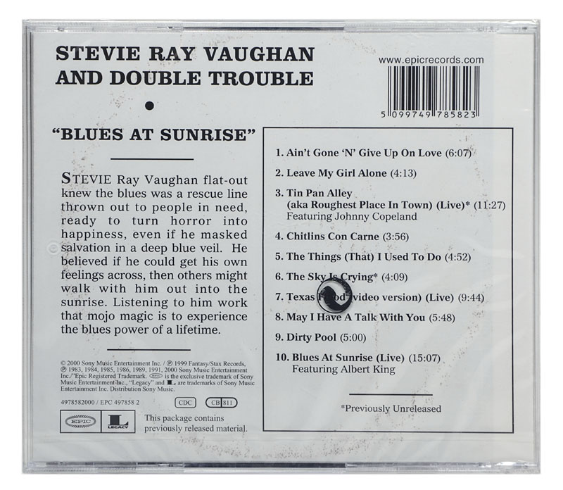 CD Stevie Ray Vaughan and Double Trouble - Blues At Sunrise - Importado - Lacrado