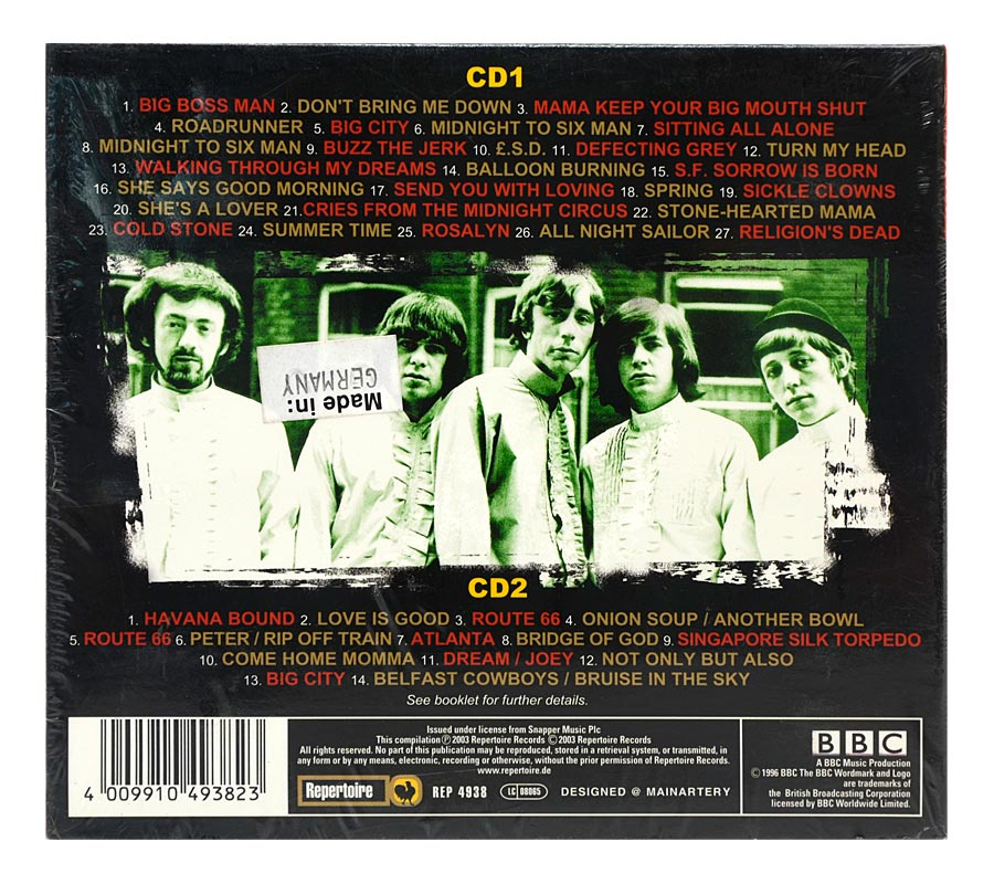 CD The Pretty Things - The BBC Sessions - Duplo - Digipack Importado Alemanha - Lacrado