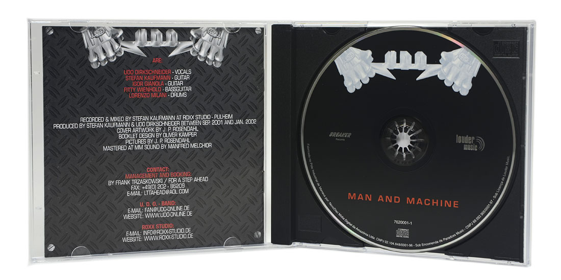 CD UDO - Man and Machine - Lacrado