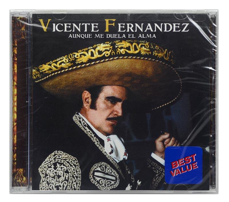 CD Vicente Fernandez - Aunque Me Duela EL Alma - Importado - Lacrado