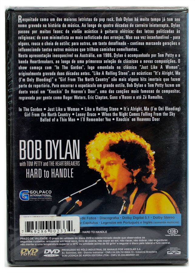 DVD Bob Dylan - Hard to Handle - Lacrado
