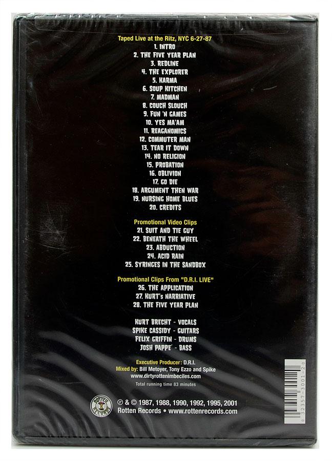 DVD D.R.I - Live At The Ritz - Crossover World Tour All Access - Importado - Lacrado