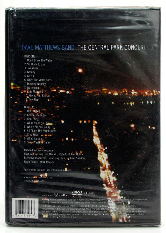 DVD Dave Matthes Band - The Central Park Concert - Importado - Lacrado