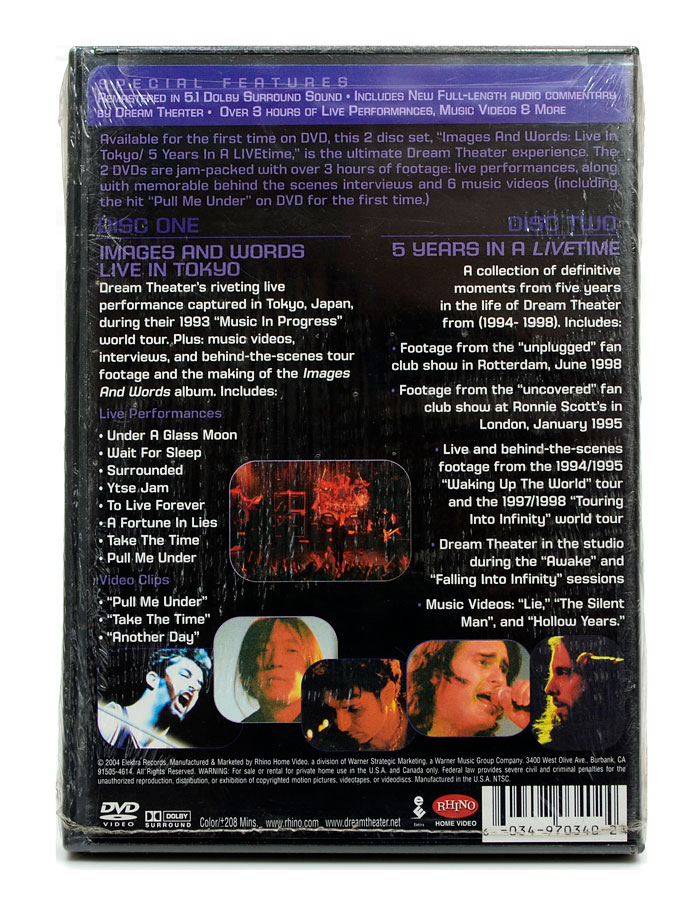DVD Duplo Dream Theater - Images And Words -5 Years In a Livetime - Lacrado - Importado