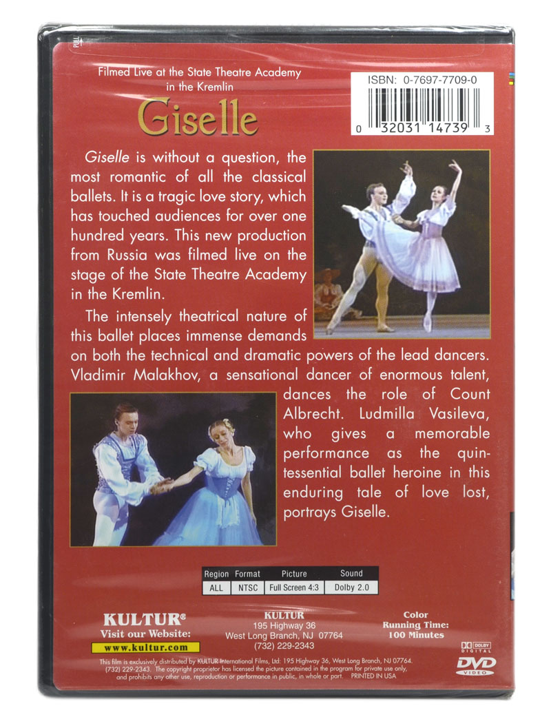 DVD Giselle - Vladimir Malakhov / Ludimilla Vasileva - Importado - Lacrado
