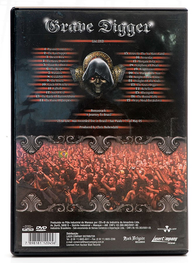 DVD Grave Digger - 25 to Live