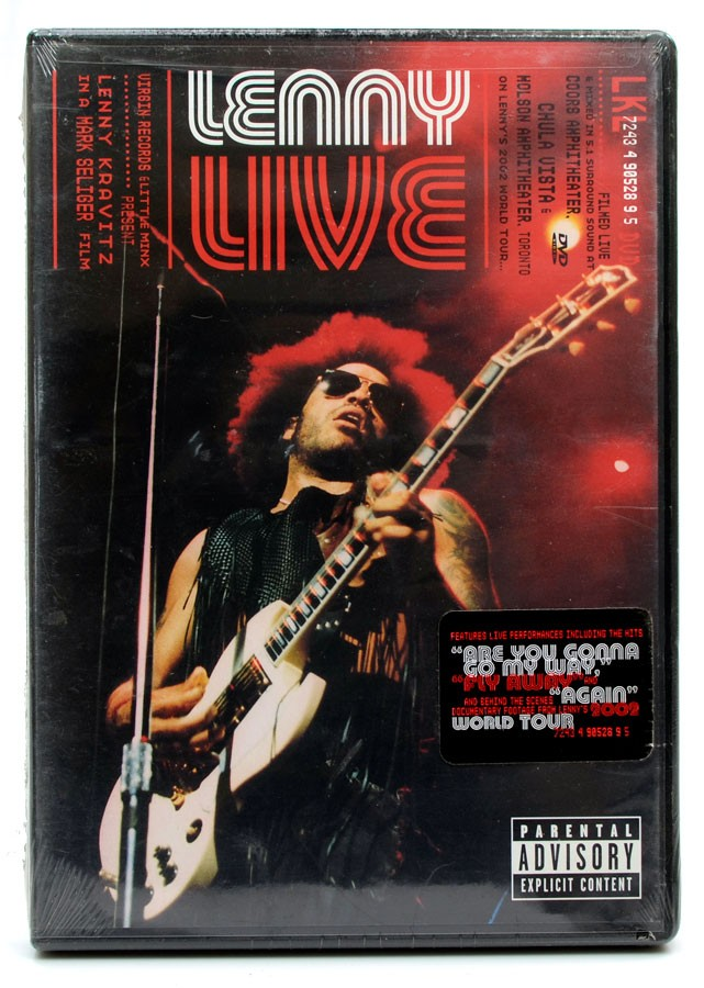 DVD Lenny Kravitz - Lenny Live - Lacrado - Importado