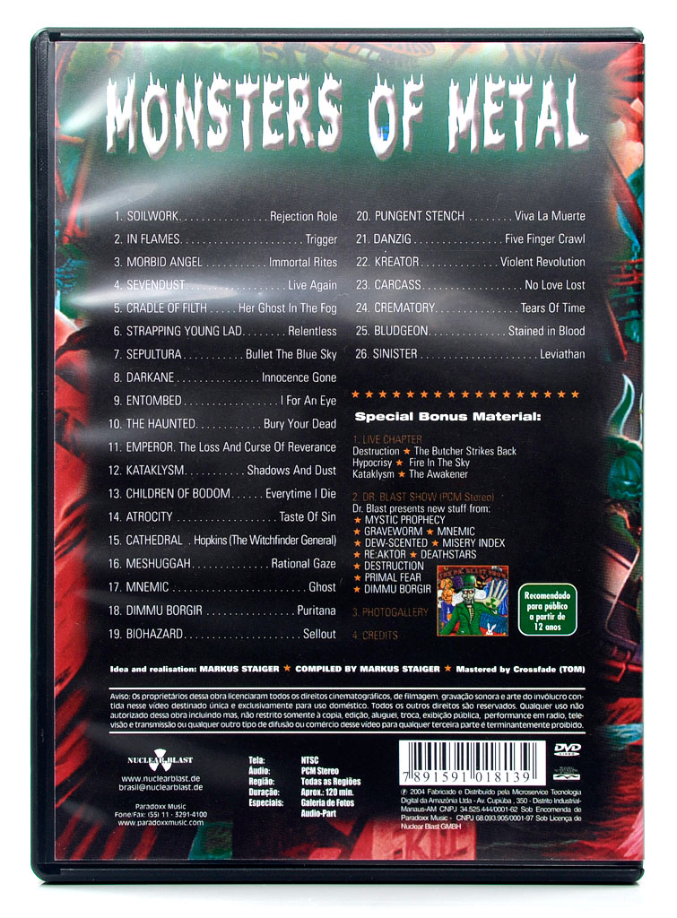 DVD Monsters Of Metal - The Ultimate Metal Compilation Part 2 - Lacrado
