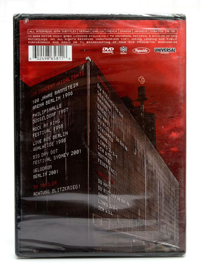 DVD Rammstein - Lichtspielhaus - Lacrado - Importado