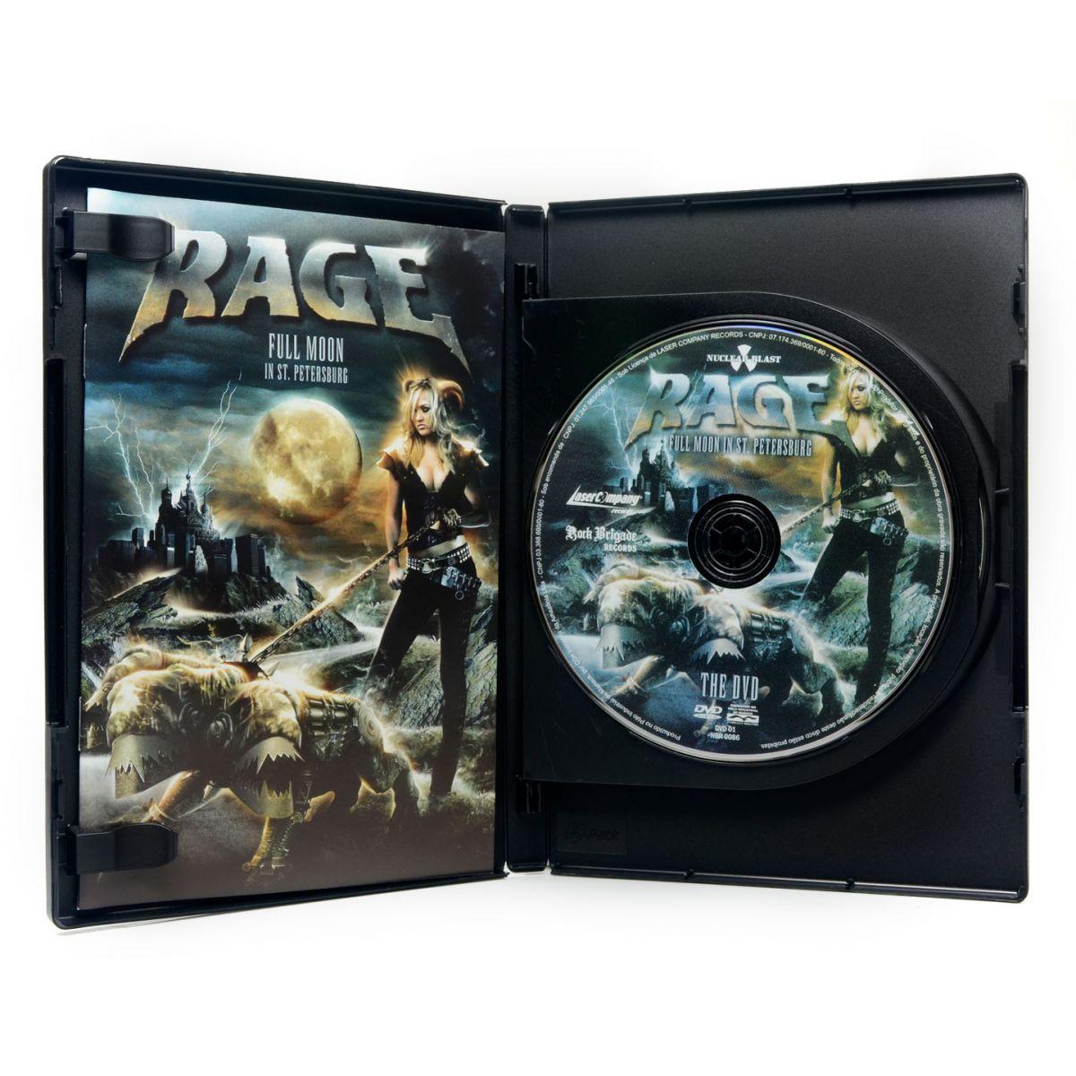 DVD Triplo Rage - Full Moon in St. Petersburg - Lacrado (DVD Duplo + CD)
