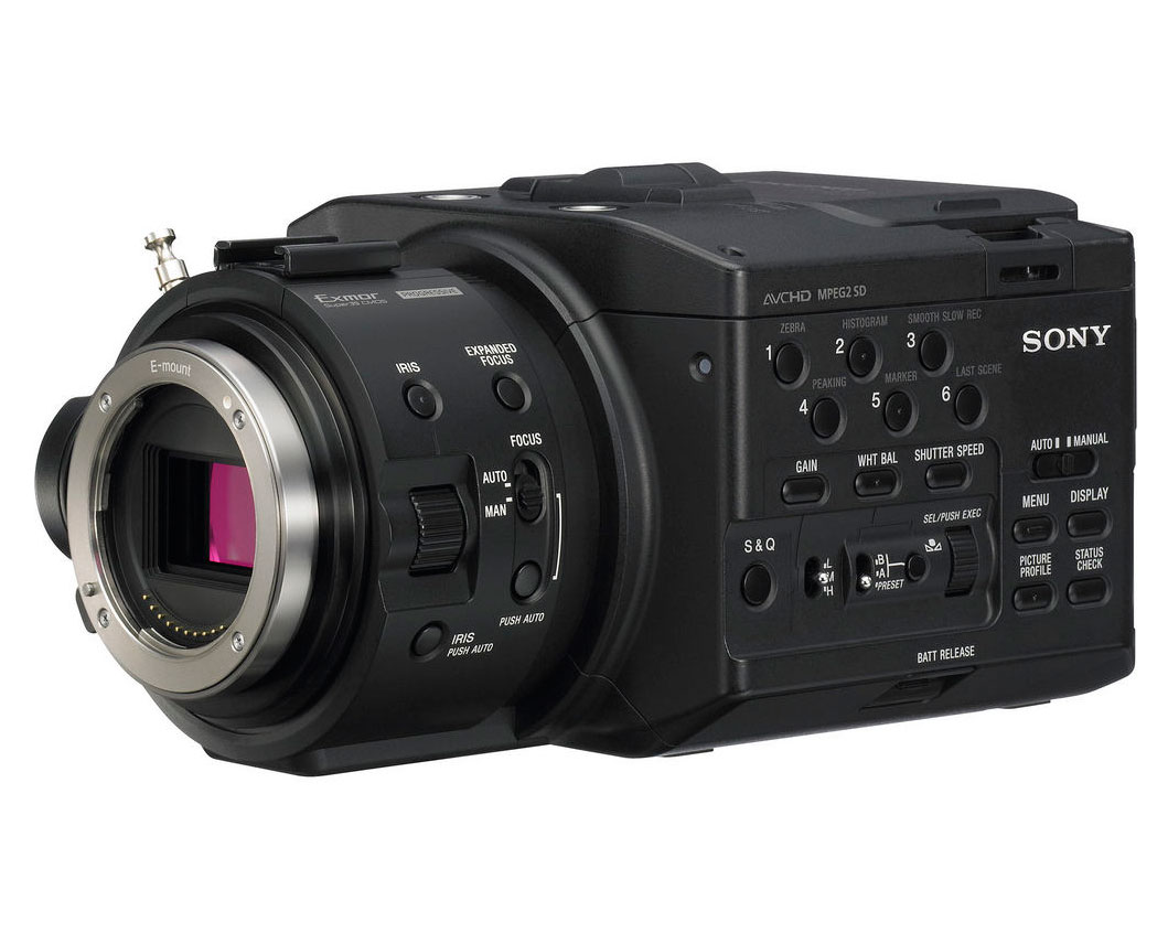 Filmadora Sony NEX-FS100N 35mm 1080p Full HD + 18-200 - Na Caixa