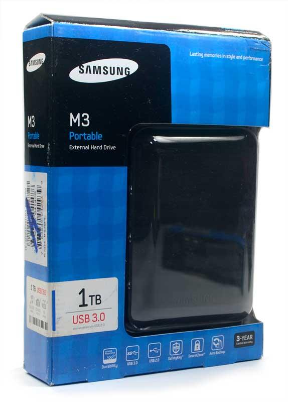 HD Externo Portátil M3 Samsung 1TB USB 3.0 HX-M101TCB/G