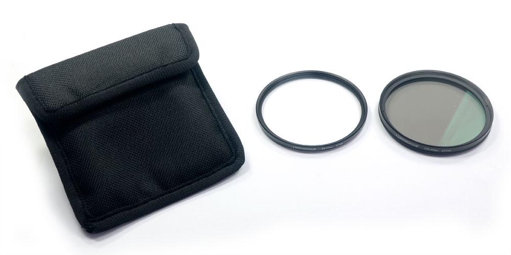 Kit Filtro UV e Polarizador Circular 67mm Luminesque + Case