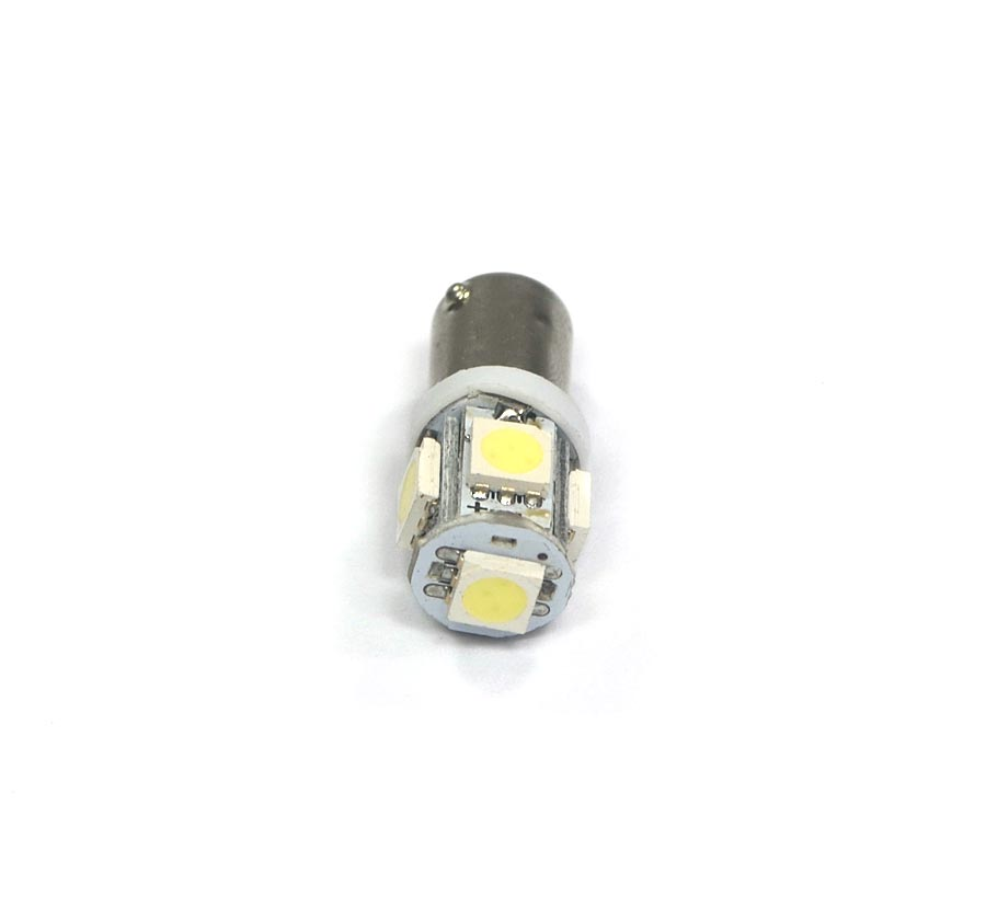 Lampada Ba9s 69 5 Leds SMD 12V - Super Branca Xenon - Fusca Kombi