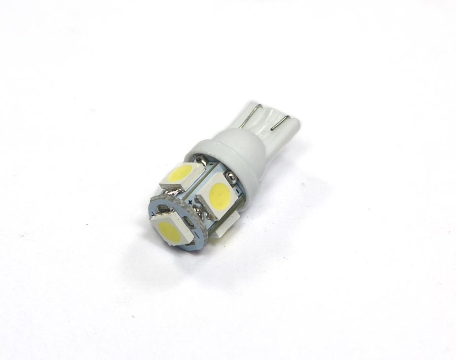 Lampada Pingo 5 Leds SMD T10 W5w - Super Branca Xenon