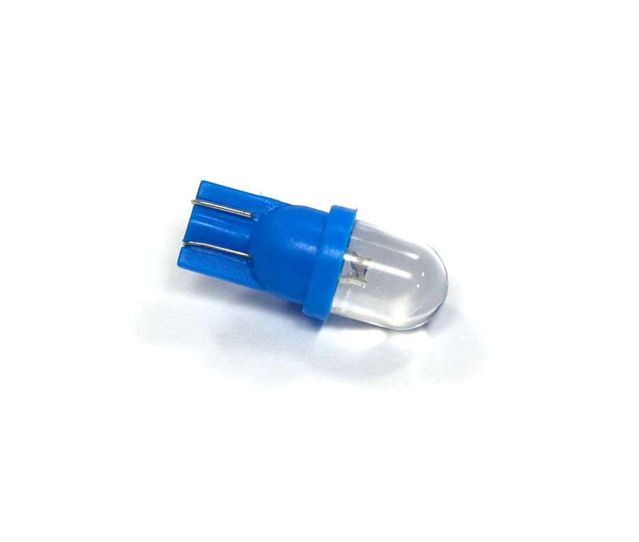 Lote 10 Lampadas Pingo 1 Led Azul Gota T10 W5w 12V