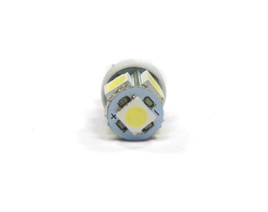 Lote 10 Lampadas Pingo 5 Leds SMD T10 W5w - Super Branca Xenon