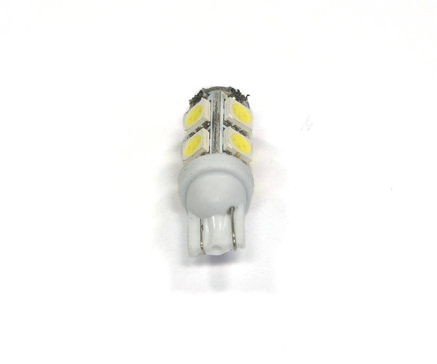 Lote 10 Lampadas Pingo 9 Leds SMD T10 W5w - Super Branca Xenon