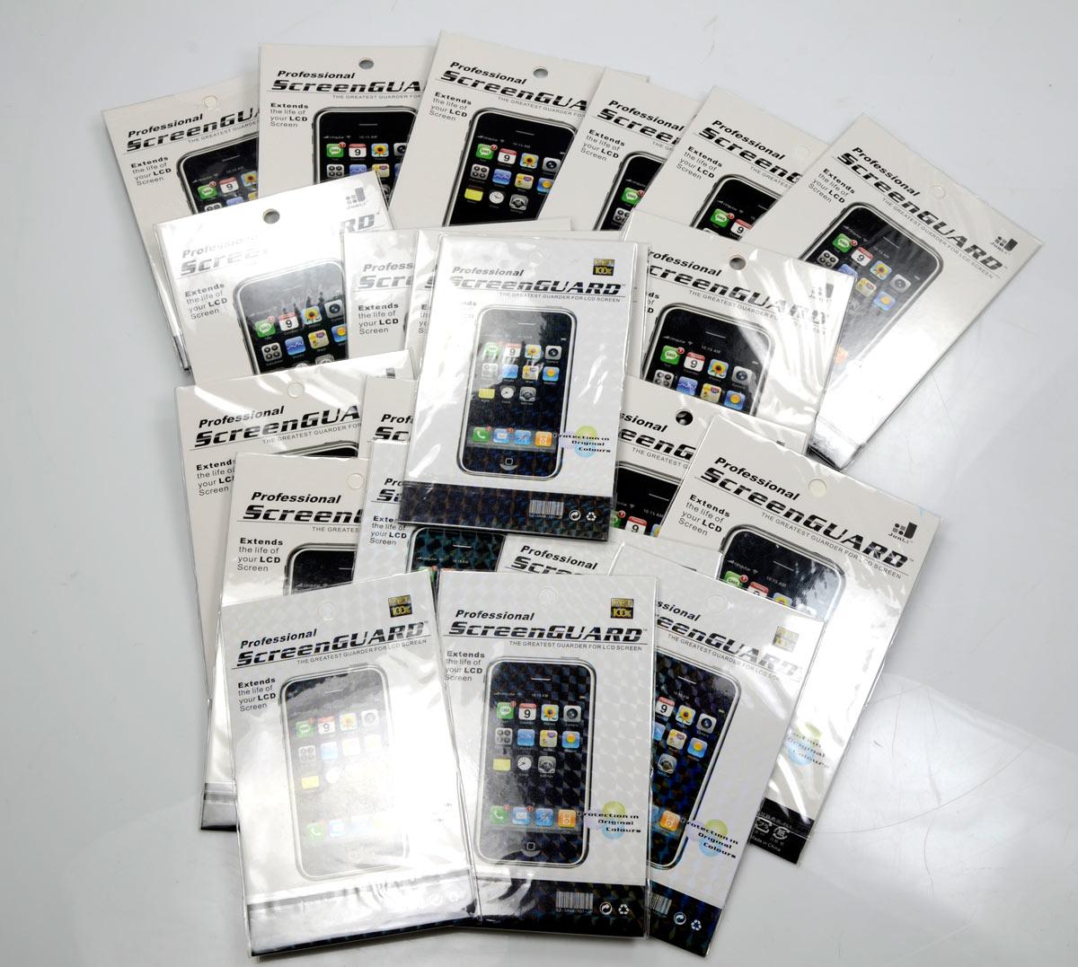 Lote com 22 Películas protetoras Fosca ScreenGuard p/ iPhone 4G