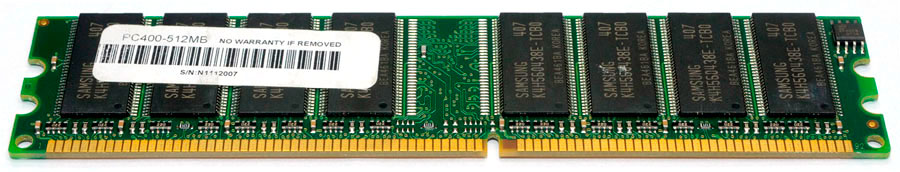 Memória Desktop DDR 512MB 400MHz PC3200 Chip Samsung DDR1