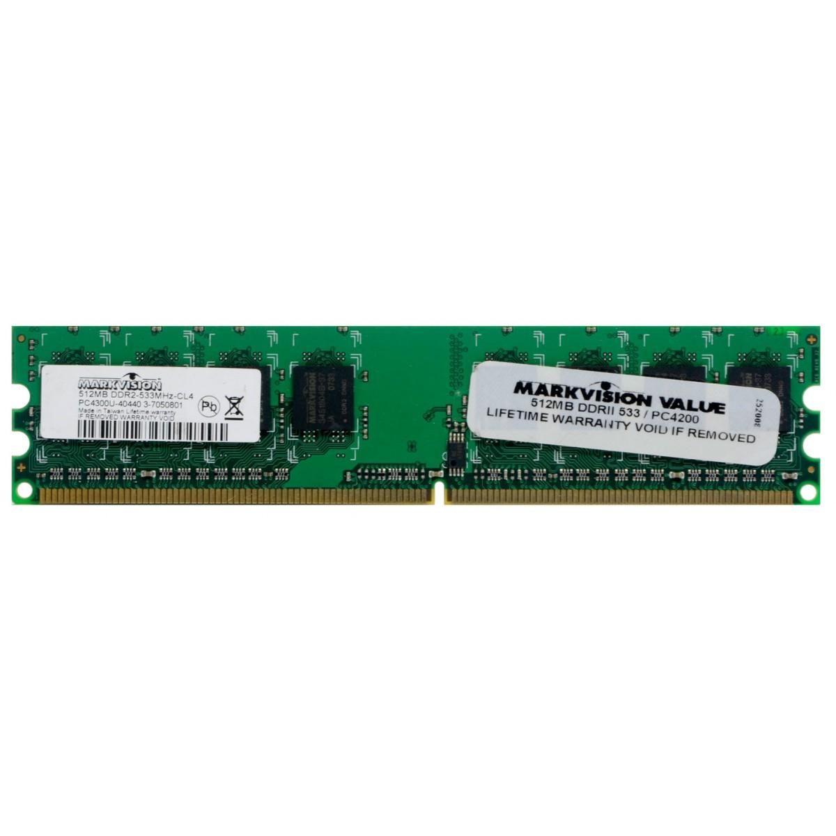 Memória Desktop Markvision 512MB DDR2 533 PC4300U CL4