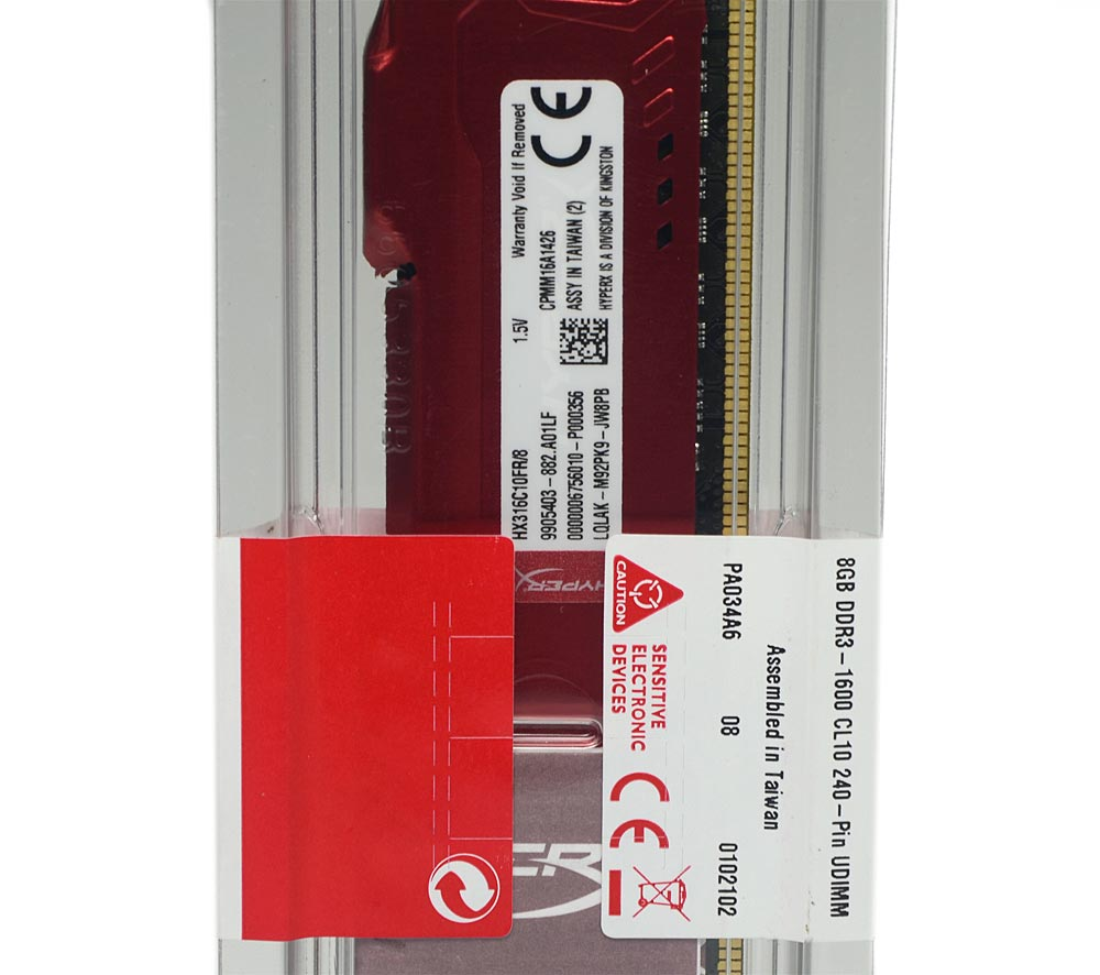 Memória Gamer Kingston HyperX FURY 8GB DDR3 1600Mhz CL10 Dimm - HX316C10FR/8
